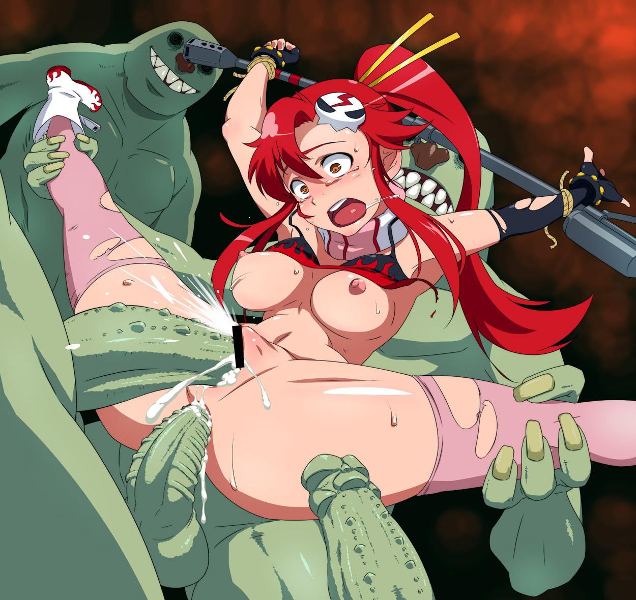 Yoko Litter naked with huge boobs and big butt from Gurren Lagreen ich