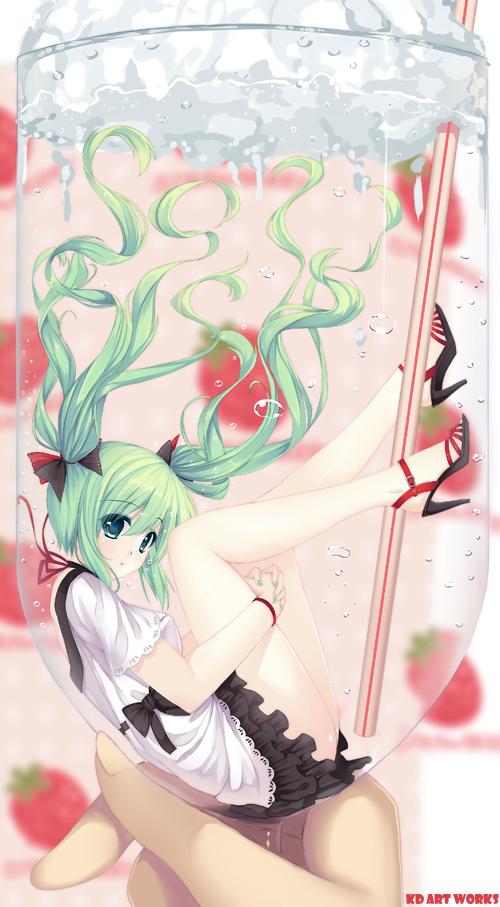 hatsune miku (vocaloid) drawn by caidychen