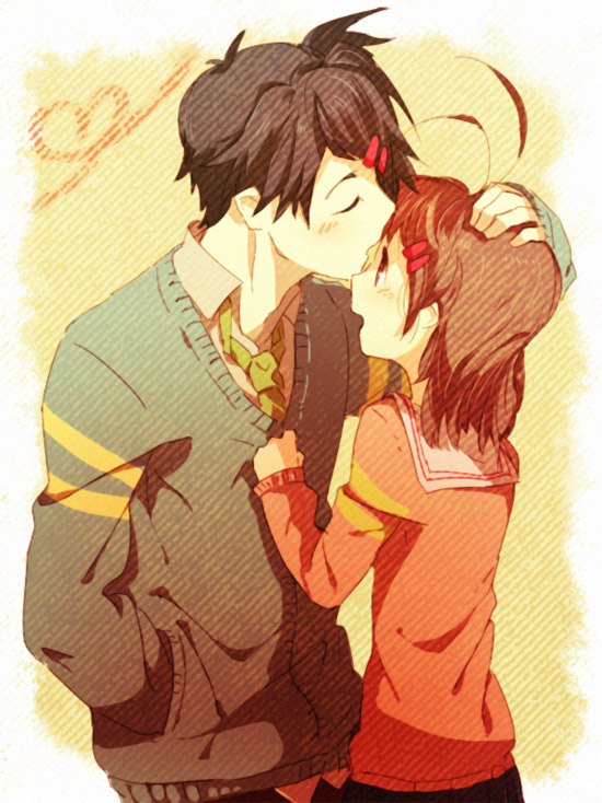 clannad tomoya and nagisa kiss