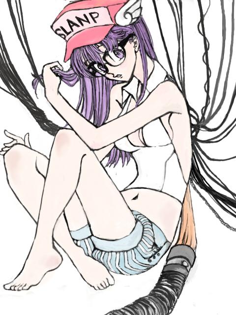 chii and norimaki arale (chobits and dr. slump) drawn by marin (ririkare)