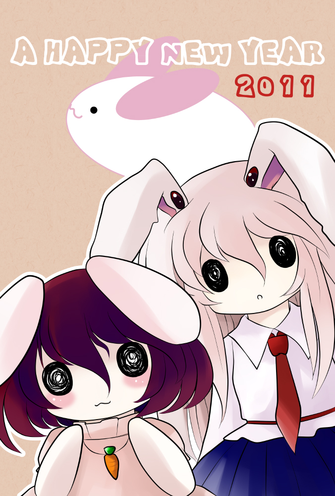 inaba tewi and reisen udongein inaba (touhou) drawn by yume shokunin