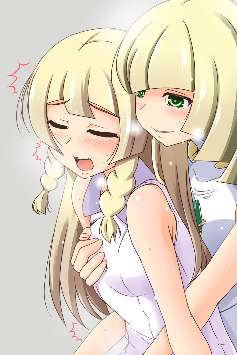 lillie and lusamine (pokemon and 2 more) drawn by nishi