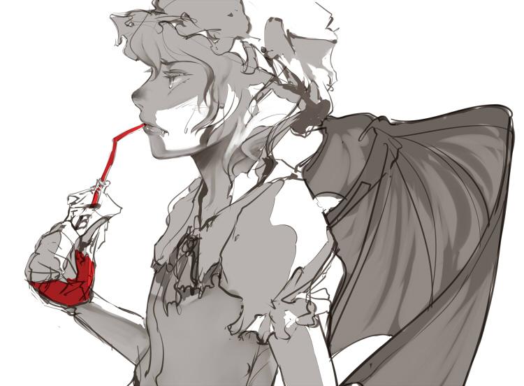 remilia scarlet (touhou) drawn by uruo