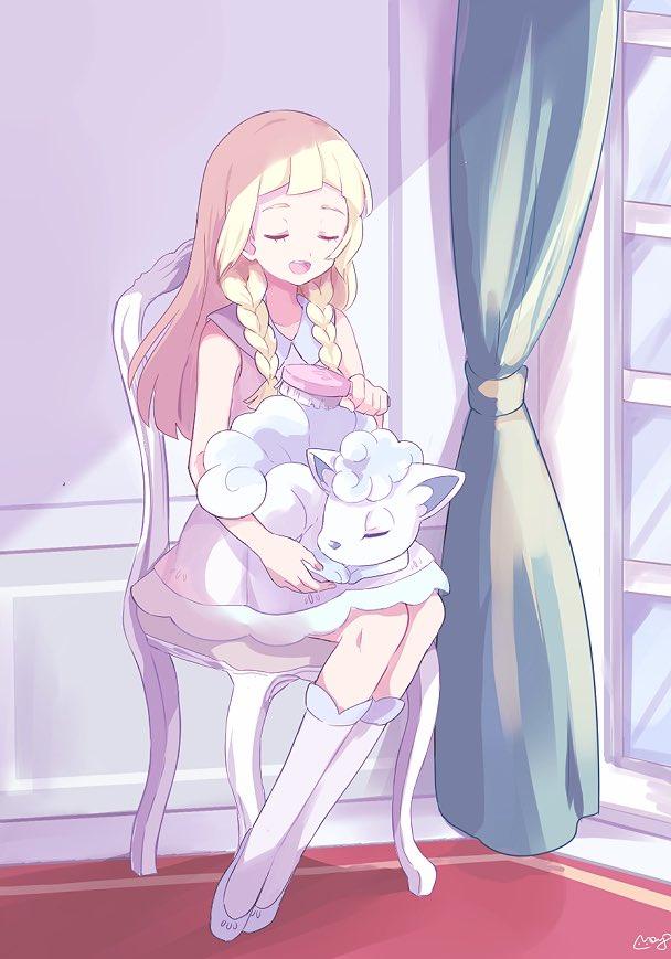 Alolan Vulpix Lillie And Vulpix Pokemon Pokemon Anime