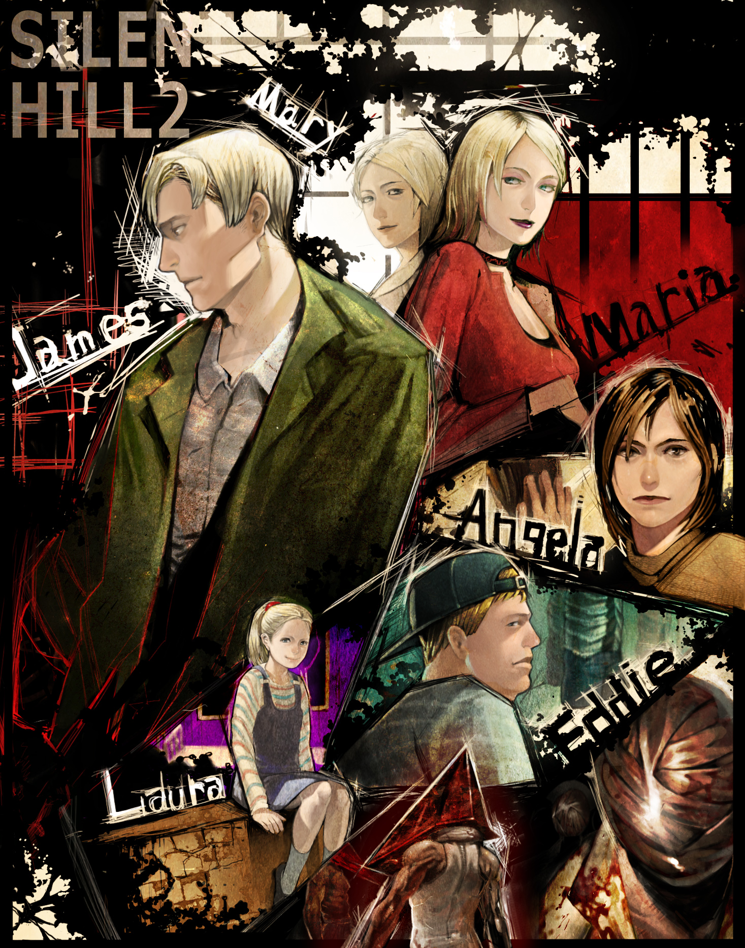 Pyramid Head Bubble Head Nurse James Sunderland Maria Laura