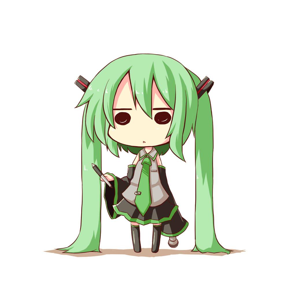 hatsune miku, megurine luka, chibi miku, and fl-chan
