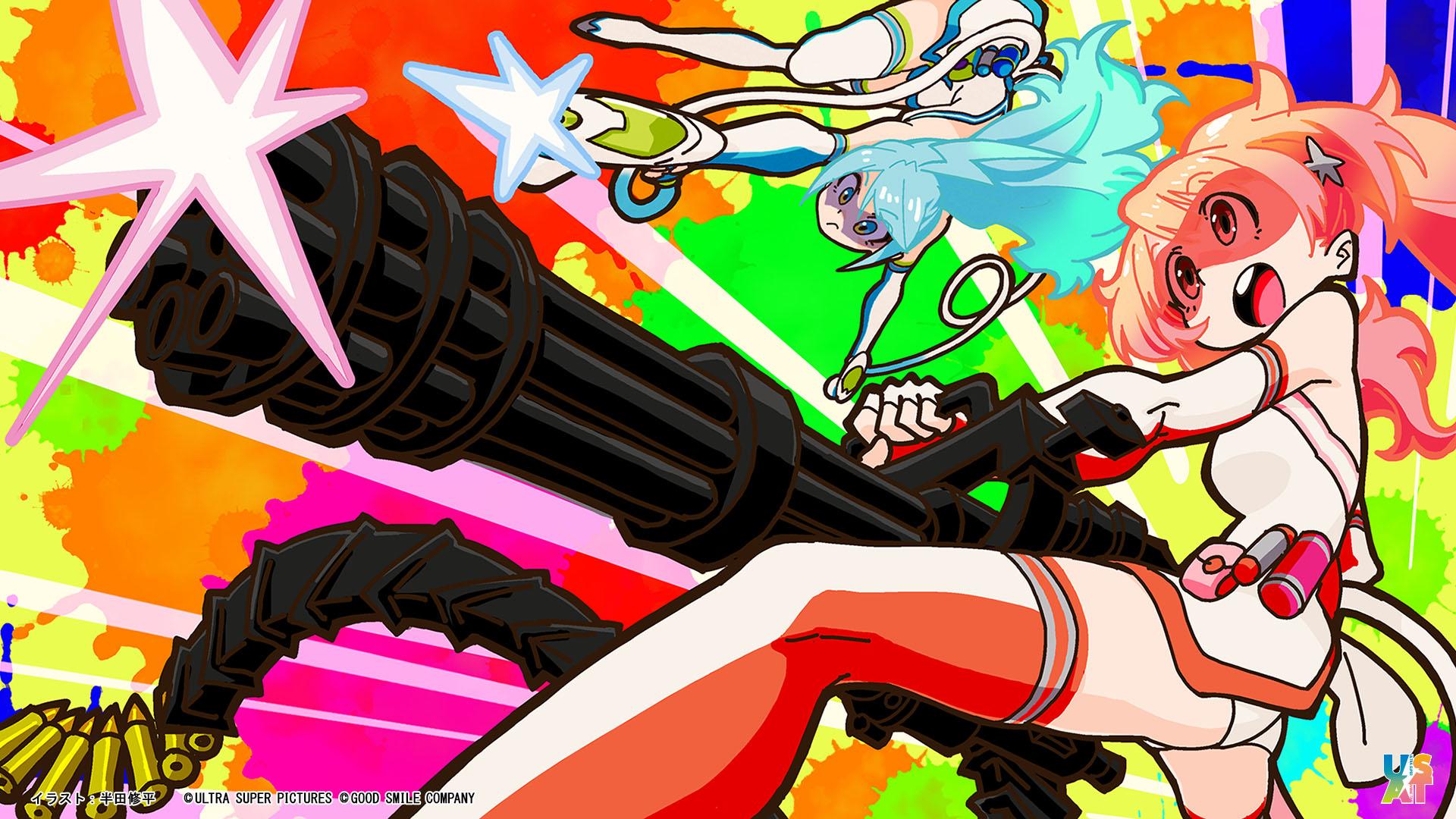 sumako and supika (ultra super anime time) drawn by handa shuuhei