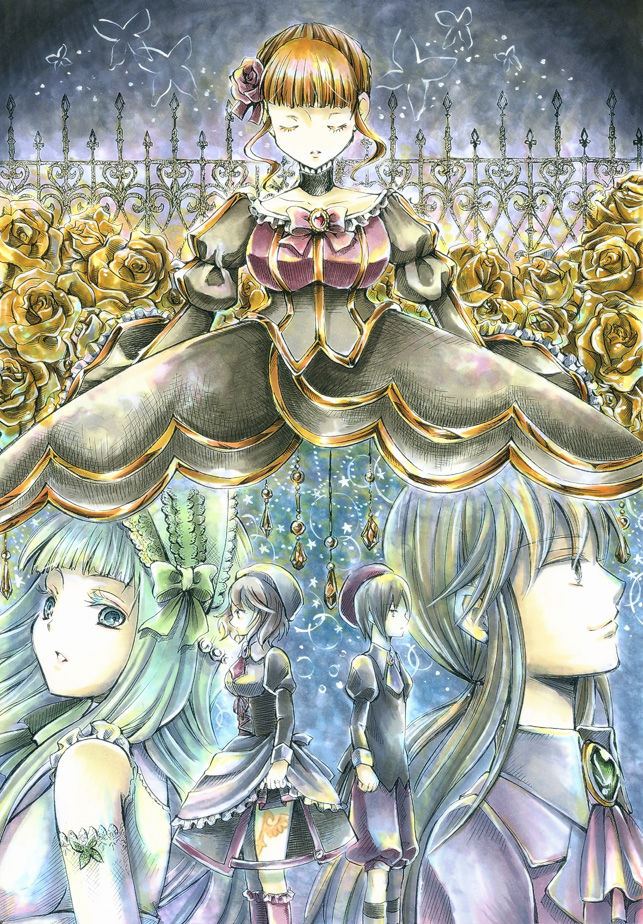 beatrice, clair vaux bernardus, kanon, shannon, and ushiromiya lion (umineko no naku koro ni) drawn by acha-1105
