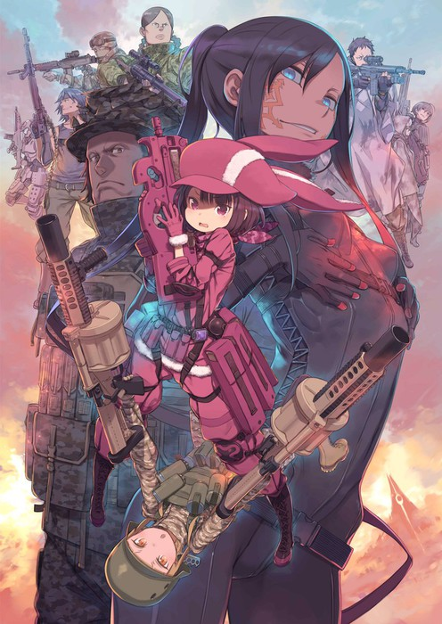 llenn and pitohui (sword art online and 1 more) drawn by ...