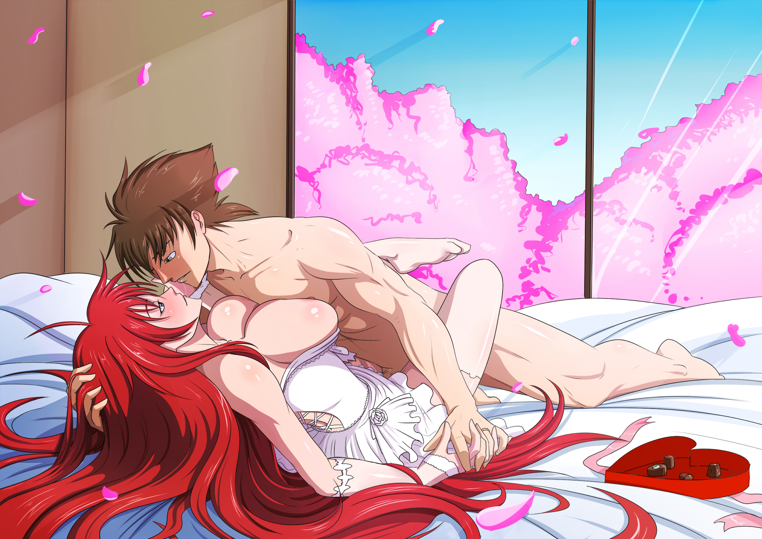 Hentai Making Love in hyoudou issei and rias gremory (high school dxd) - danbooru