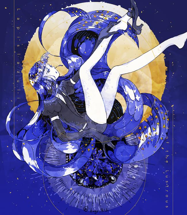 lapis lazuli (houseki no kuni) drawn by eri na