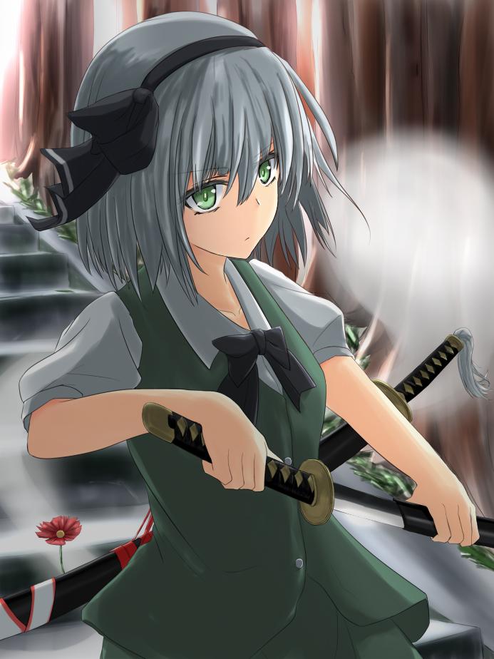 konpaku youmu and konpaku youmu (touhou) drawn by takemitsu-zamurai
