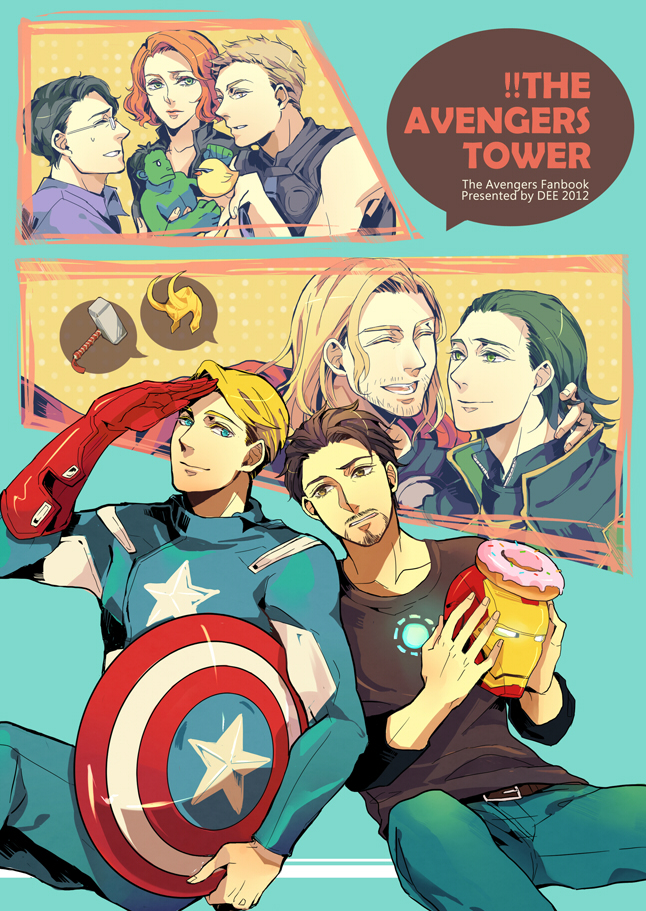 black widow, bruce banner, captain america, clint barton, hawkeye, and others (avengers and marvel) drawn by minihardee
