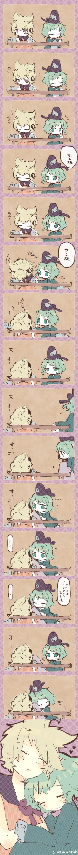 soga no tojiko and toyosatomimi no miko (touhou) drawn by legomaru