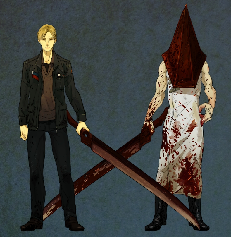 Pyramid Head And James Sunderland Silent Hill And 1 More Drawn