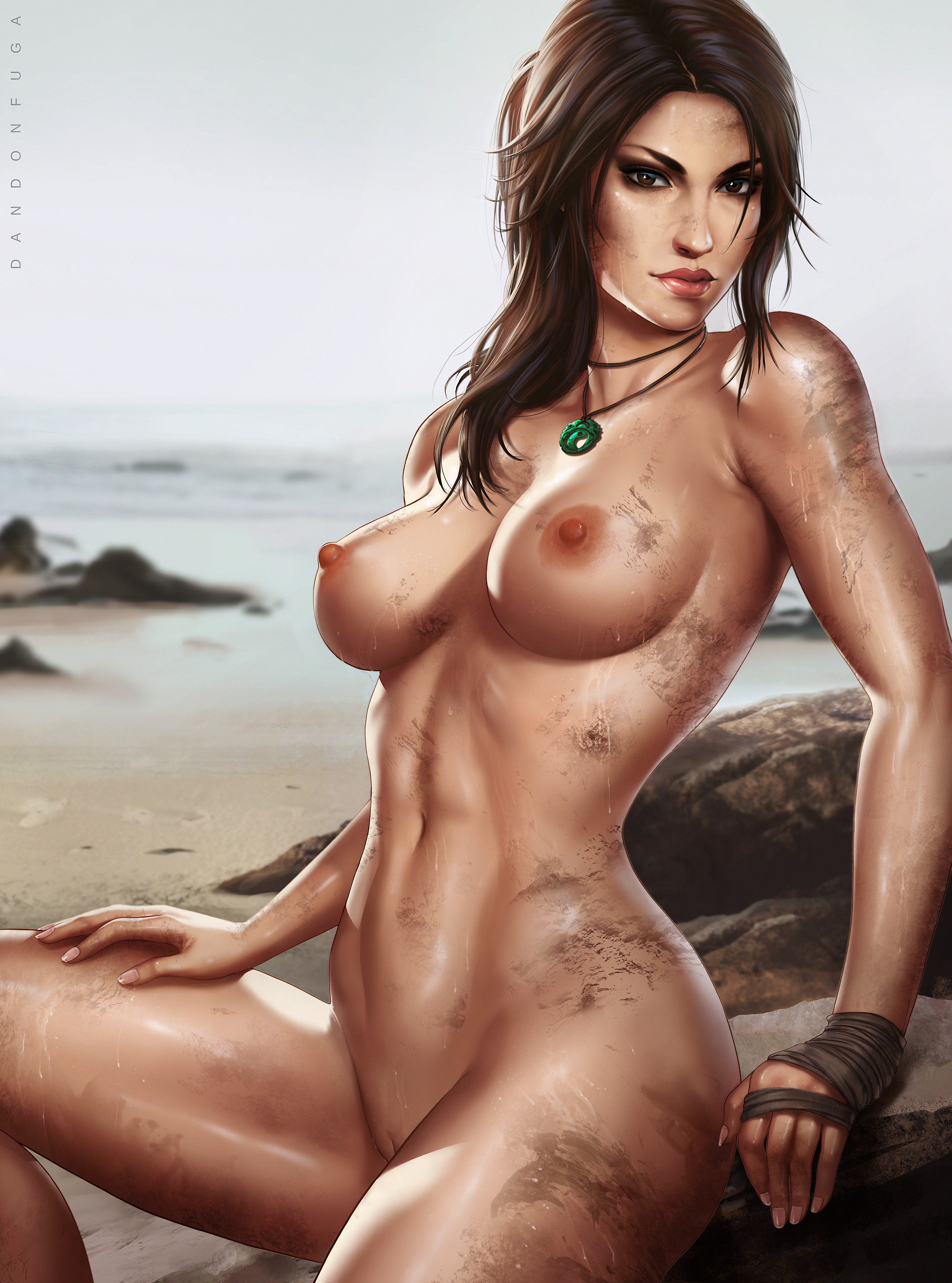 Karen lancaume lara croft nude raider 03 - 3 3