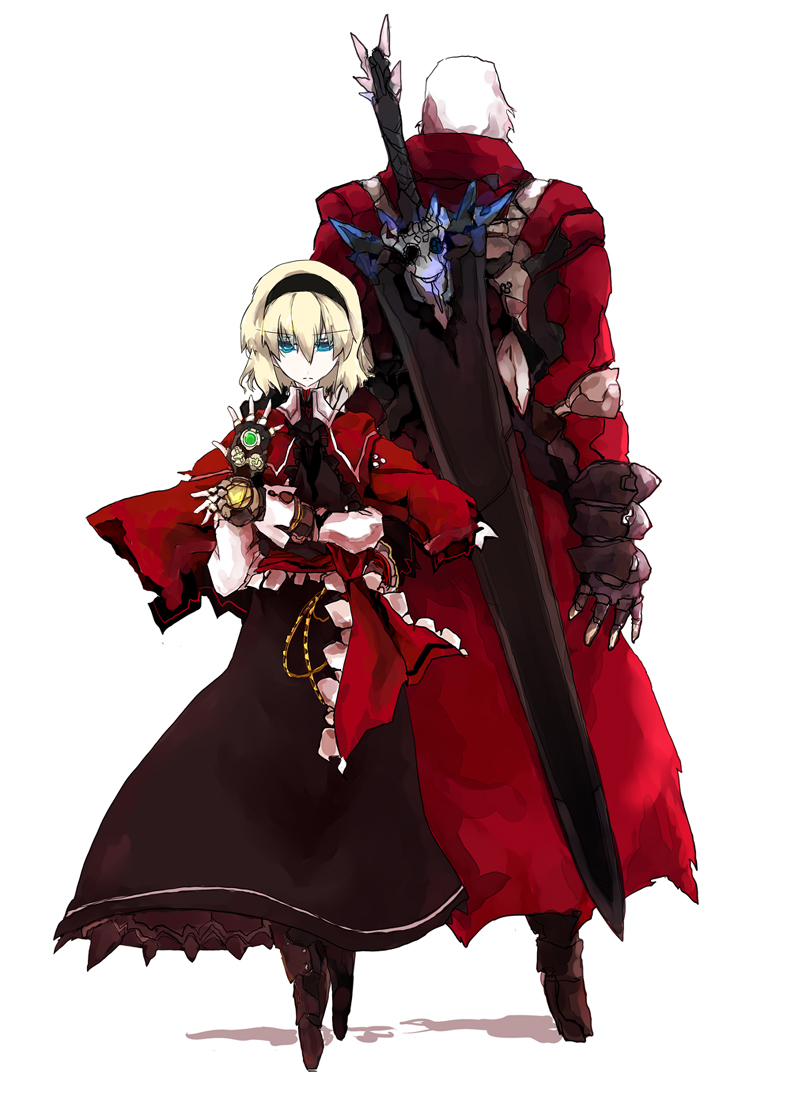 alice margatroid and dante (devil may cry and touhou) drawn by beru