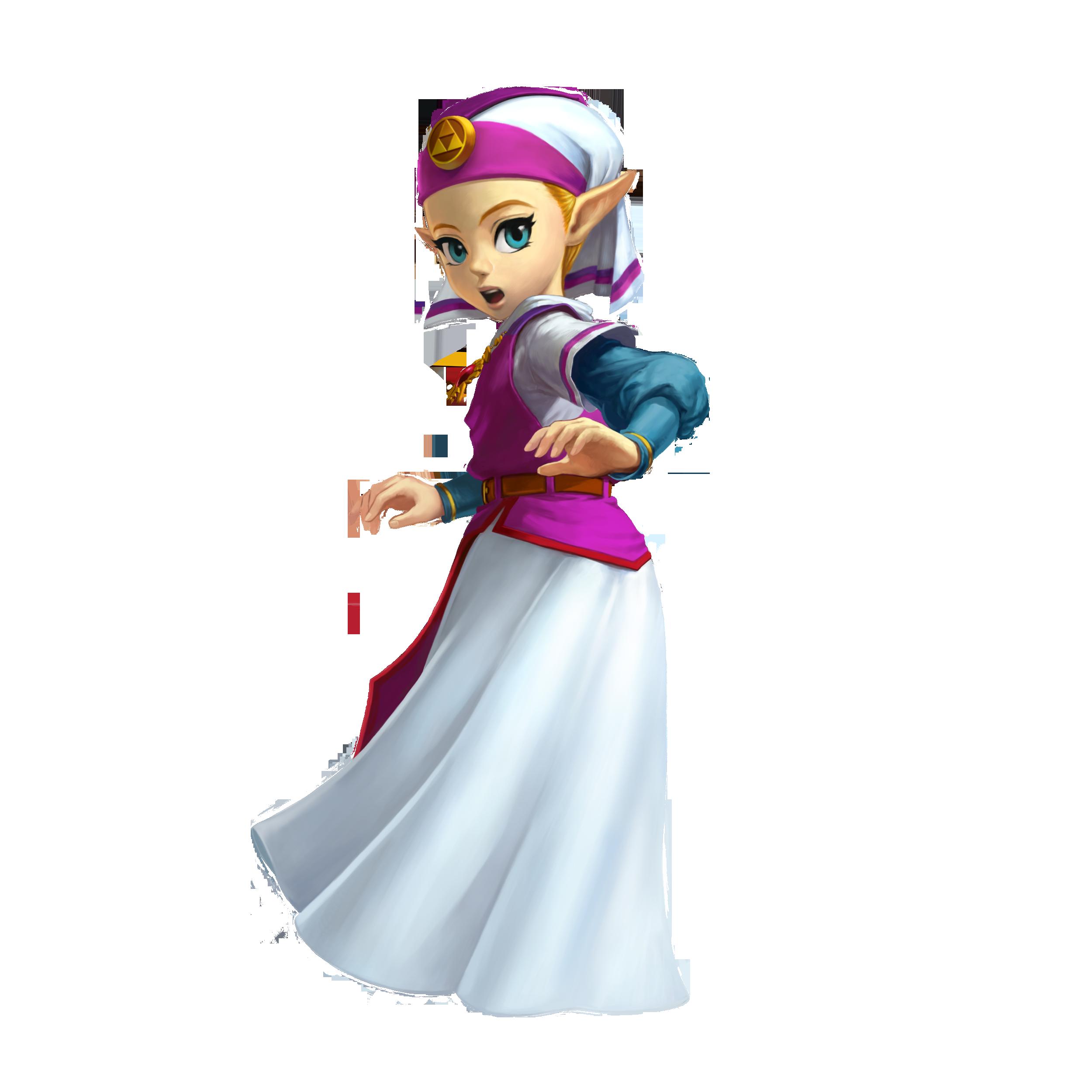 Princess Zelda And Young Zelda The Legend Of Zelda And 1
