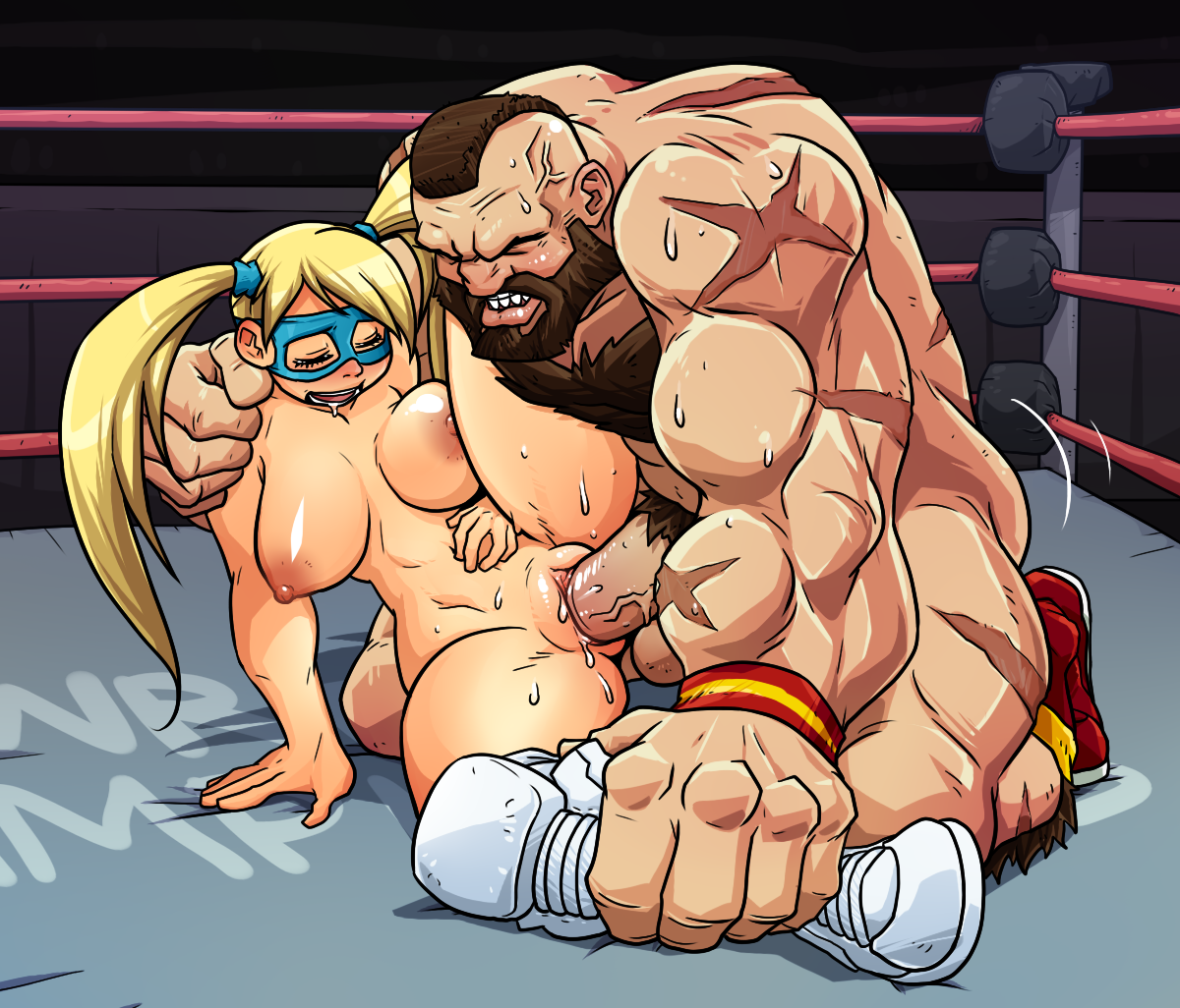 Hentai Fighter in rainbow mika and zangief (street fighter) drawncatunder - danbooru