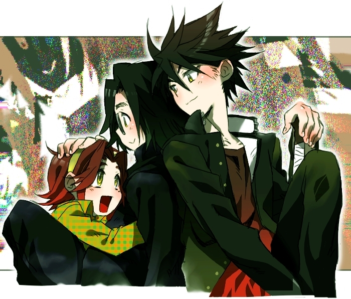 hirano kouta, komuro takashi, and maresato alice (highschool of the dead) drawn by dknj