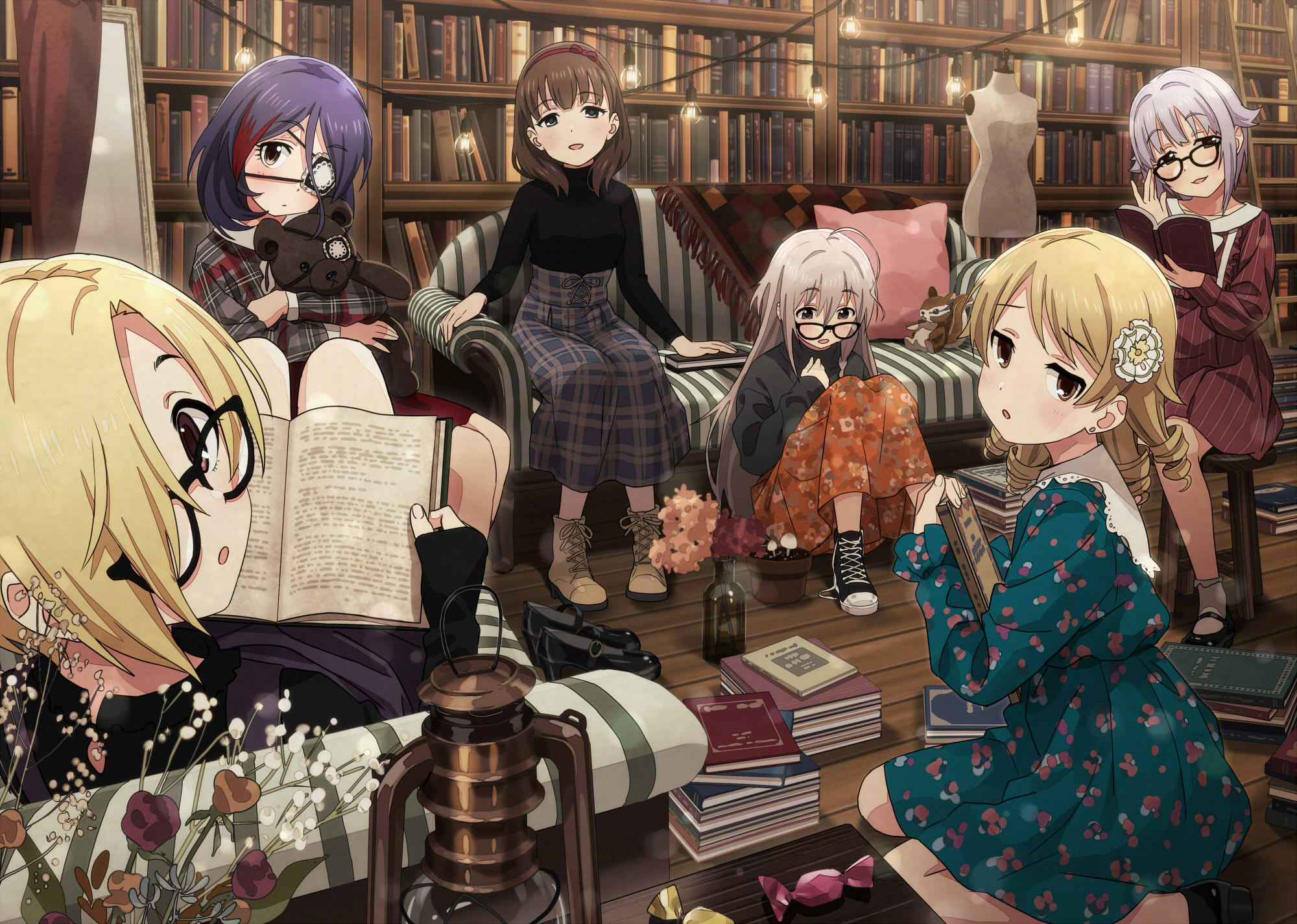 anime library females