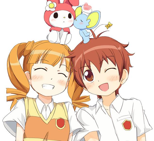 kogure kakeru, mr. flat, my melody, and yumeno uta (onegai ...Onegai My Melody Uta And Kakeru