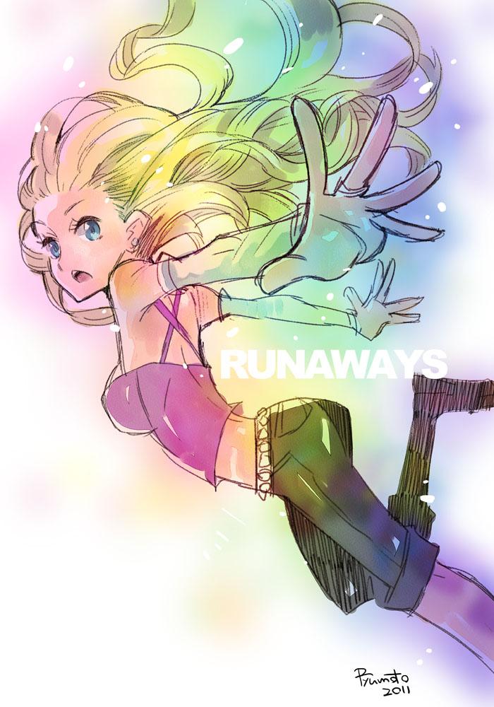 karolina dean (marvel and runaways) drawn by hamamoto ryuusuke