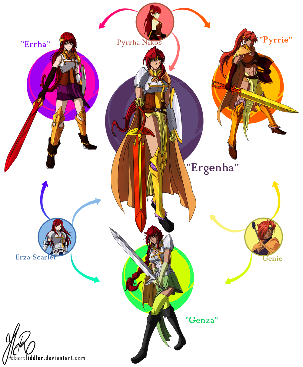 Erza Scarlet And Pyrrha Nikos Rune Soldier And Etc Drawn By