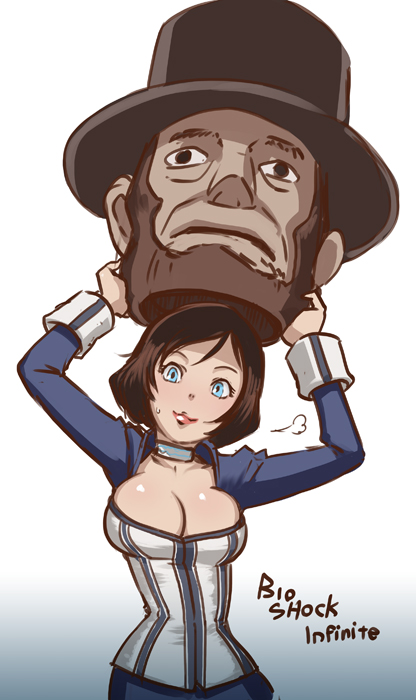 abraham lincoln and elizabeth (bioshock and bioshock infinite) drawn by butcha-u