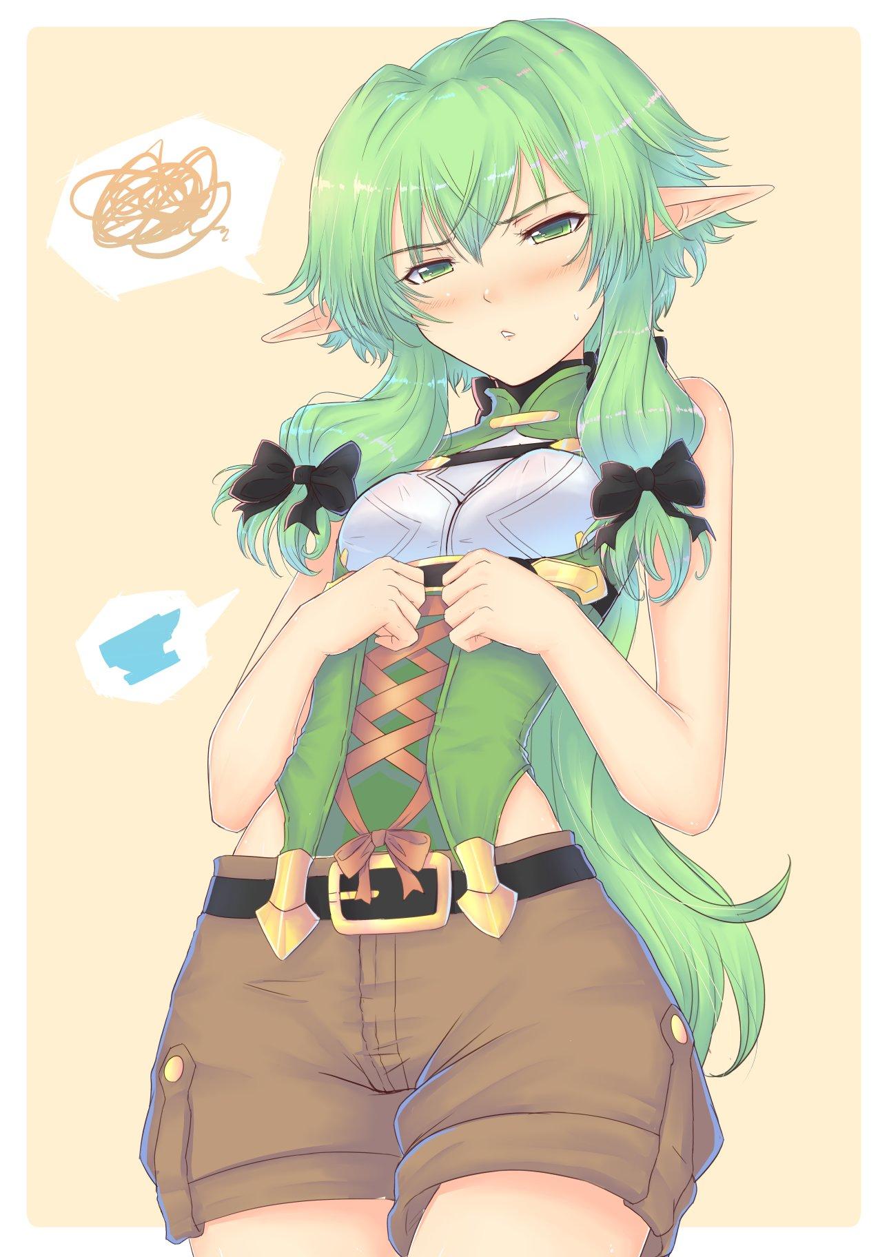 high elf archer (goblin slayer!) drawn by cat_with_a_brush