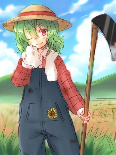 kazami yuuka (touhou) drawn by mokku
