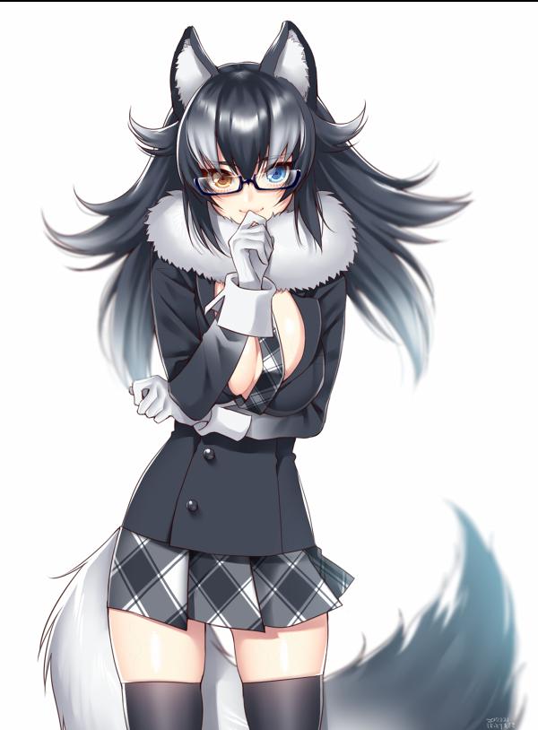 grey wolf (kemono friends) drawn by hattori_masaki   Danbooru
