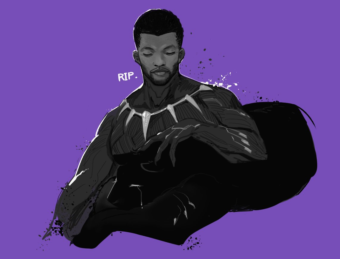 Black Panther T Challa And Chadwick Boseman Real Life And 2 More Drawn By Hirundo Rustica Danbooru