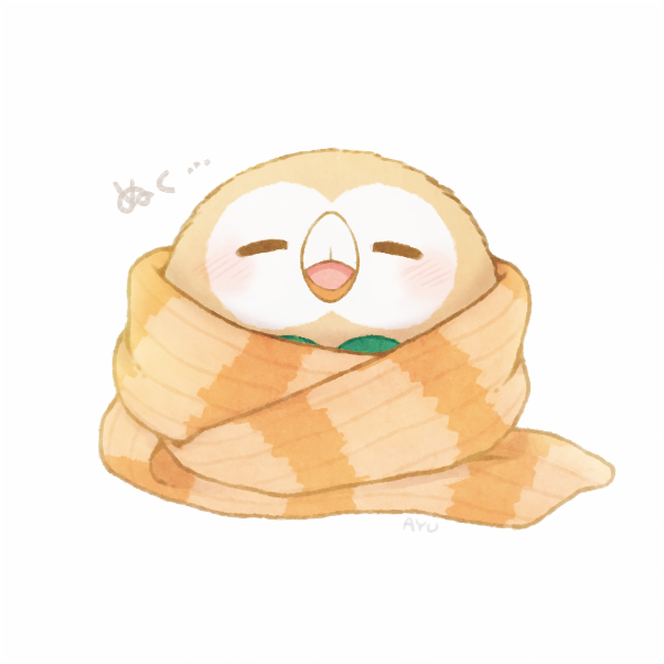rowlet (pokemon) drawn by ayu (mog)