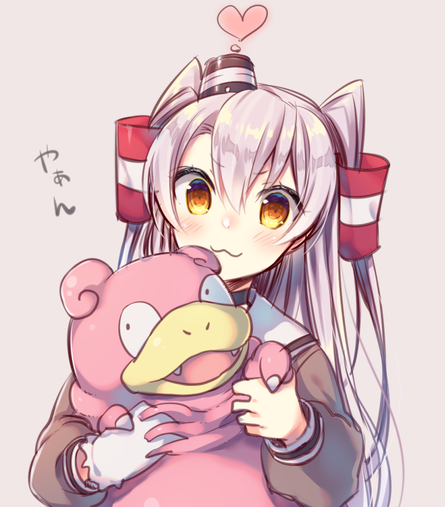 amatsukaze and slowpoke (kantai collection and pokemon) drawn by tahya
