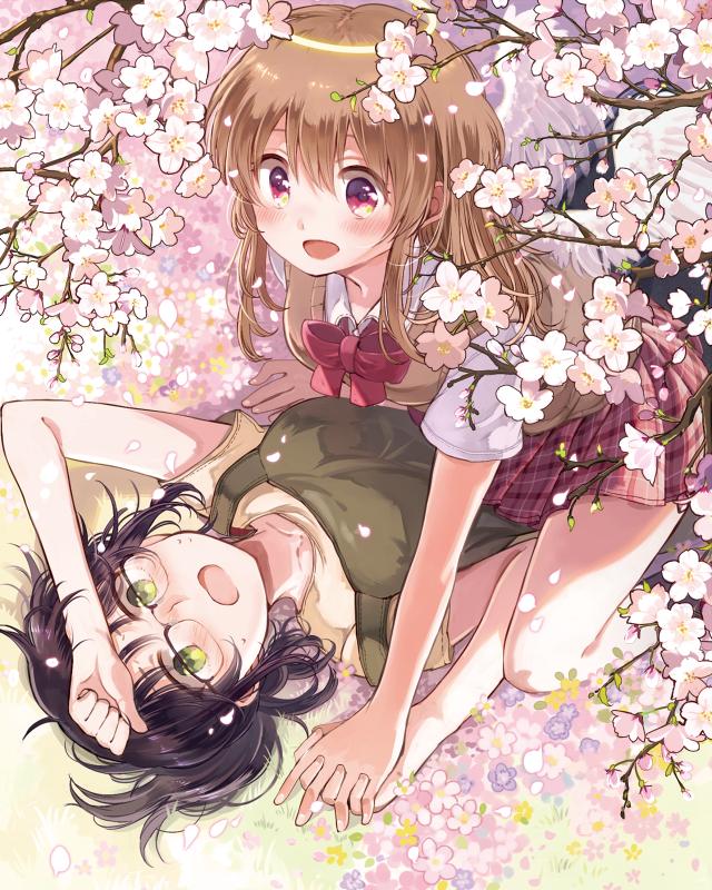 kobayashi sayuri and kobayashi mikoto (sayuri-san no imouto wa tenshi) drawn by itou_hachi