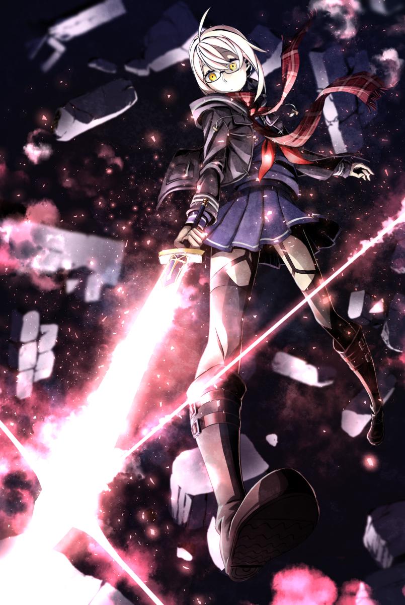 artoria pendragon and mysterious heroine x (fate/grand order and fate (series)) drawn by harukaze shizuru