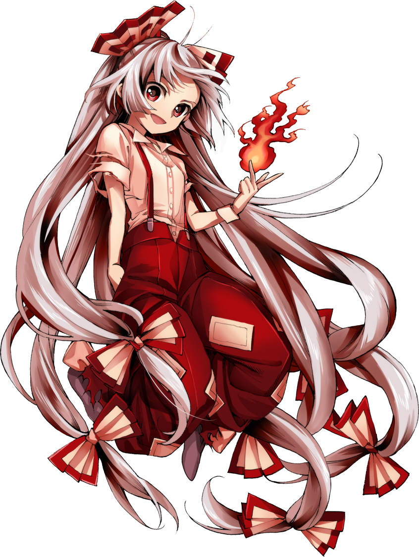 fujiwara no mokou (touhou and urban legend in limbo) drawn by harukawa moe