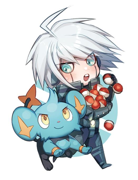keebo and shinx (danganronpa, new danganronpa v3, and pokemon) drawn by zuizi