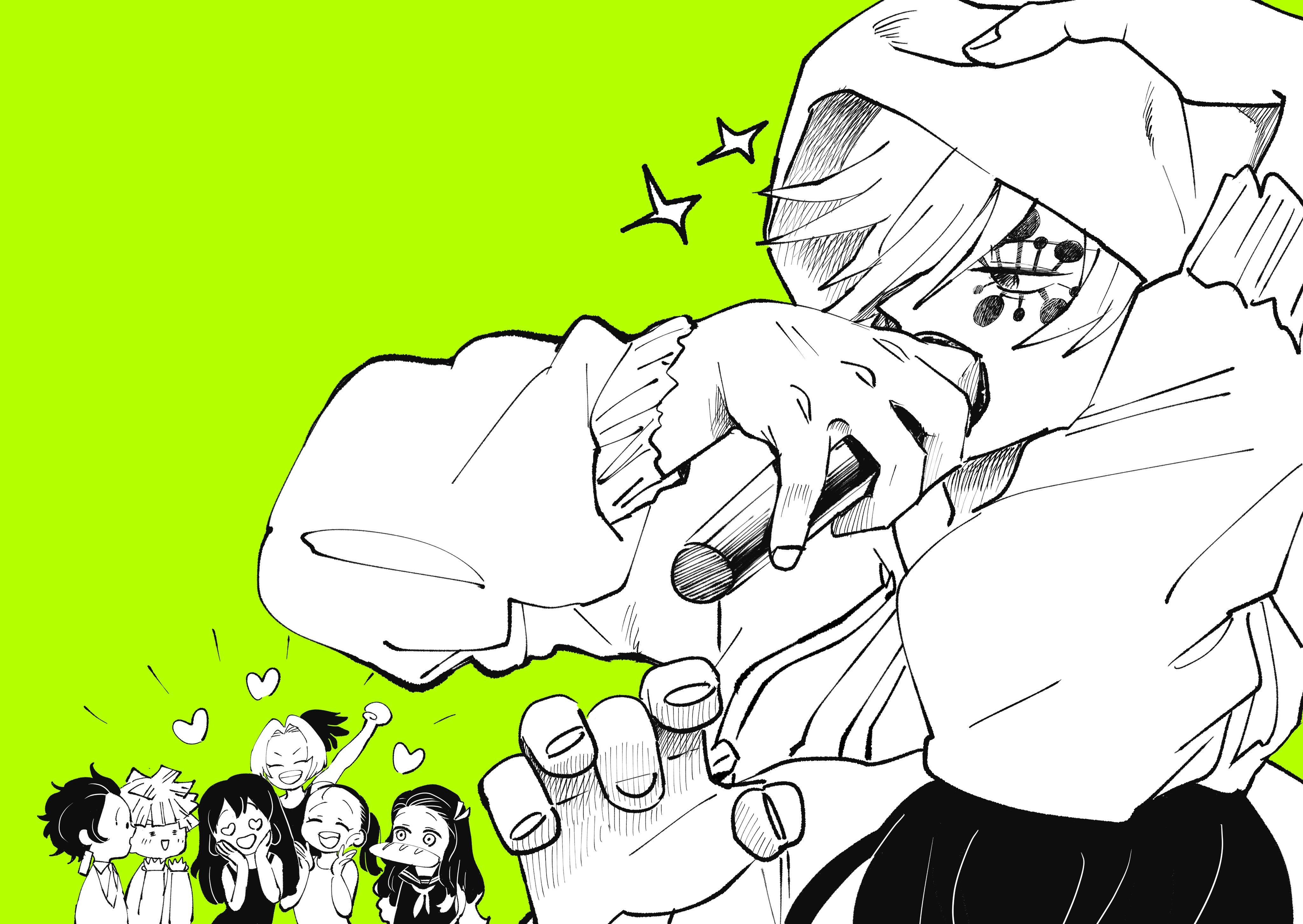 Kamado Nezuko Kamado Tanjirou Hashibira Inosuke Uzui Tengen Makio And 2 More Kimetsu No Yaiba Drawn By Bahyon 6969 Danbooru Tengen was one of nine children from a surviving line of ninja that was on the verge of extinction in taisho era. kamado nezuko kamado tanjirou