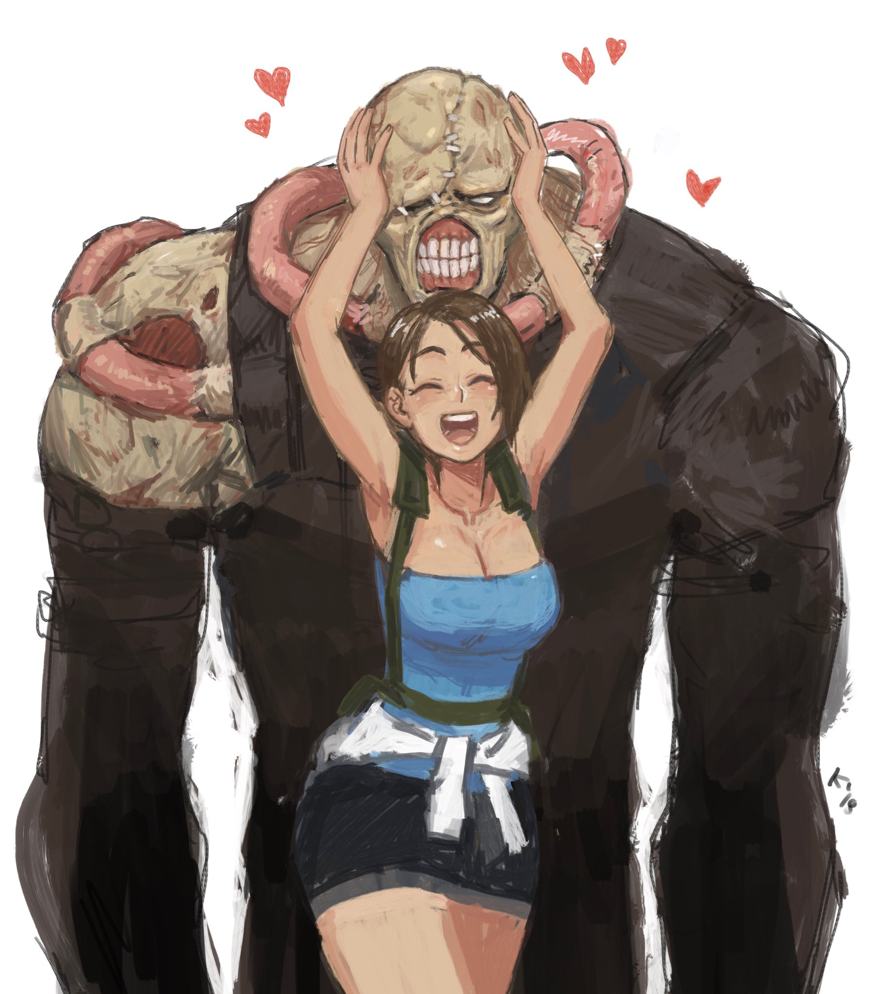 Jill Valentine And Nemesis Resident Evil And 1 More Drawn By