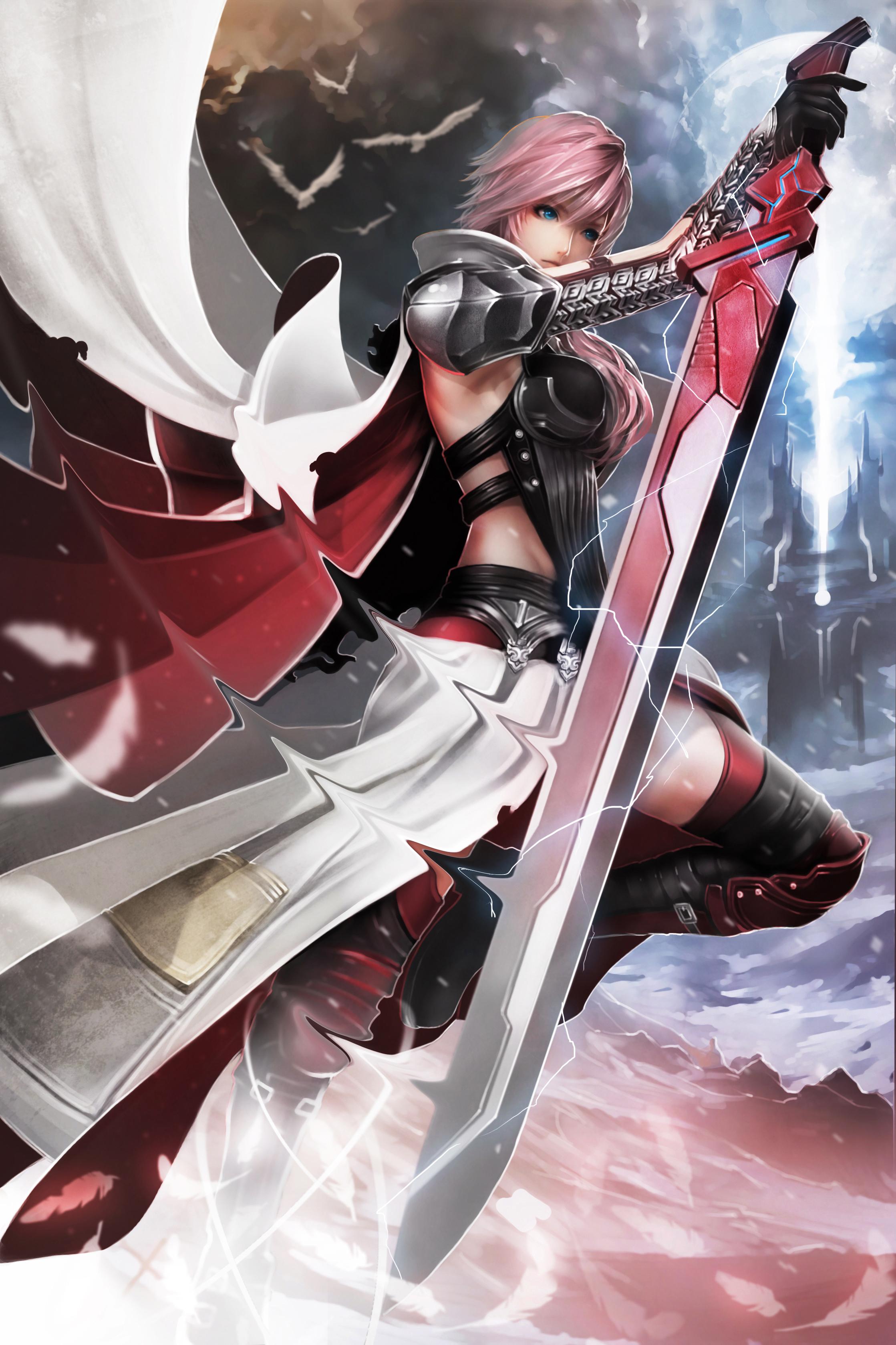 lightning farron (final fantasy, final fantasy xiii, and lightning