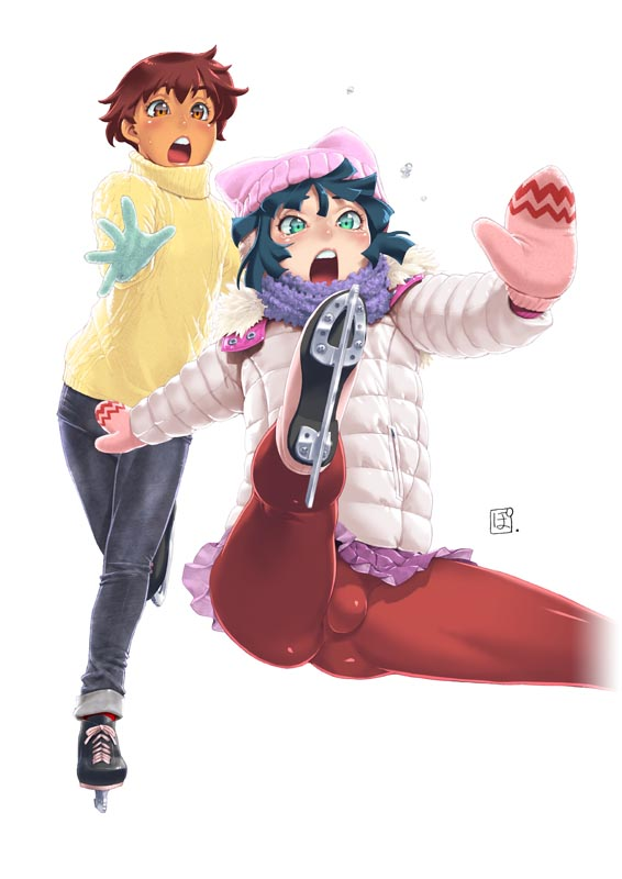 natsuki and yuu (natsuyasumi.) drawn by po-ju | Danbooru