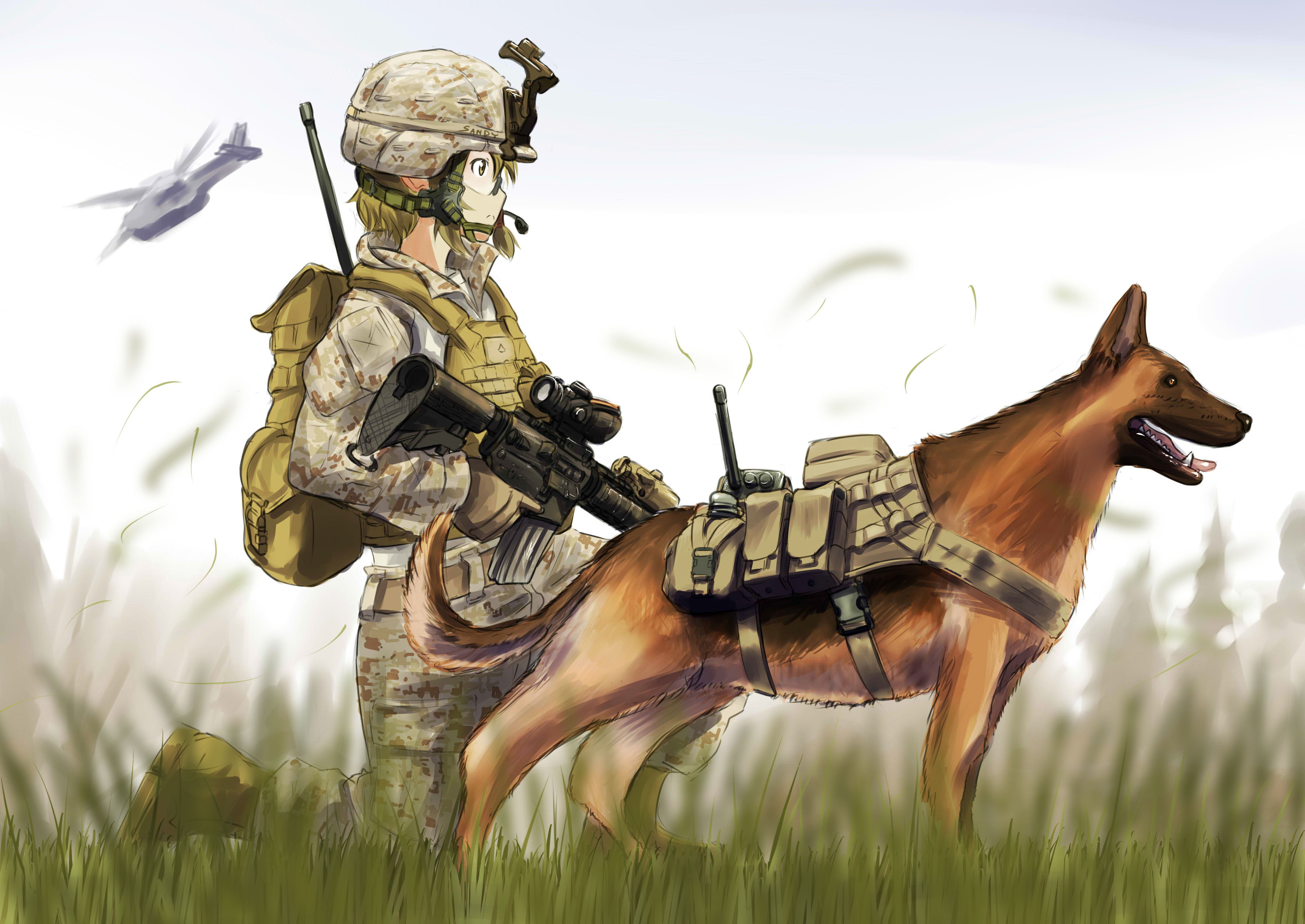 Riley (call Of Duty:ghosts And Original) Drawn By Erica