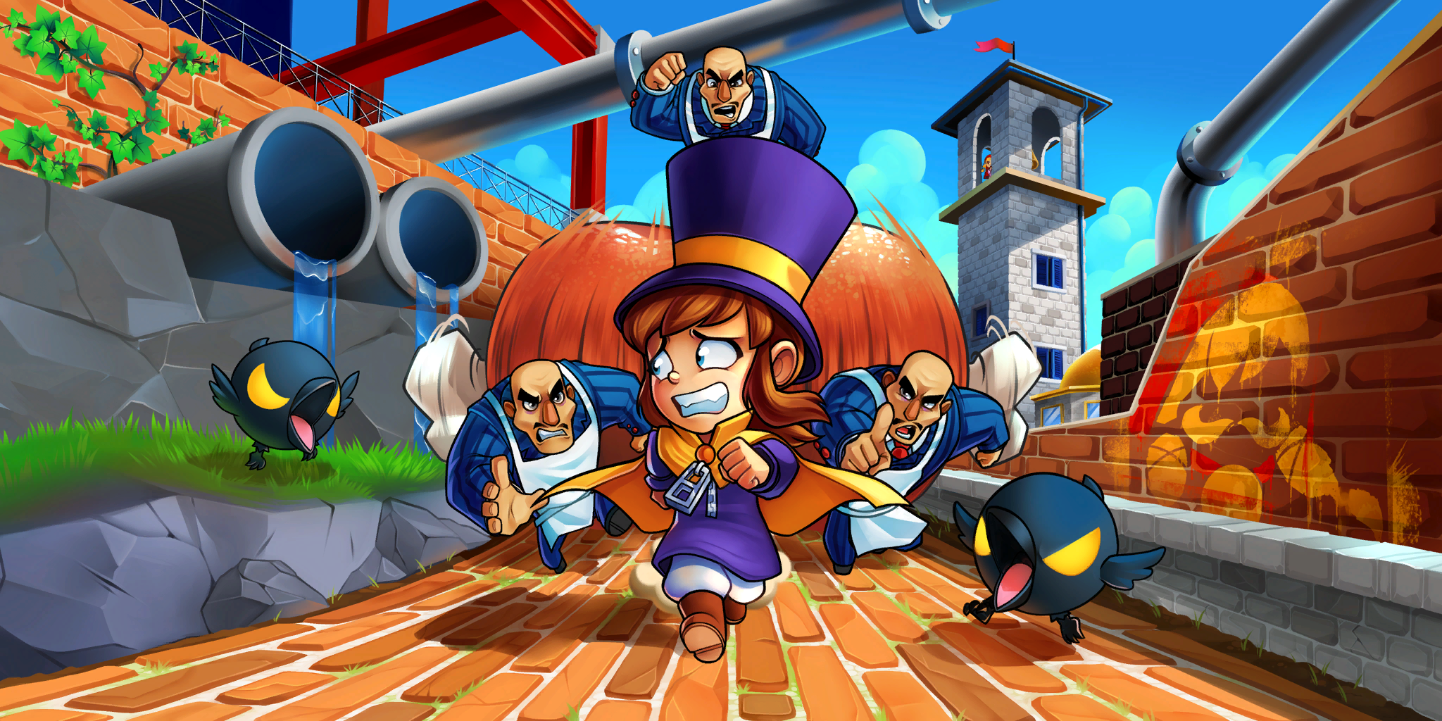 hat kid, mafia, and mustache girl (a hat in time) drawn by ...