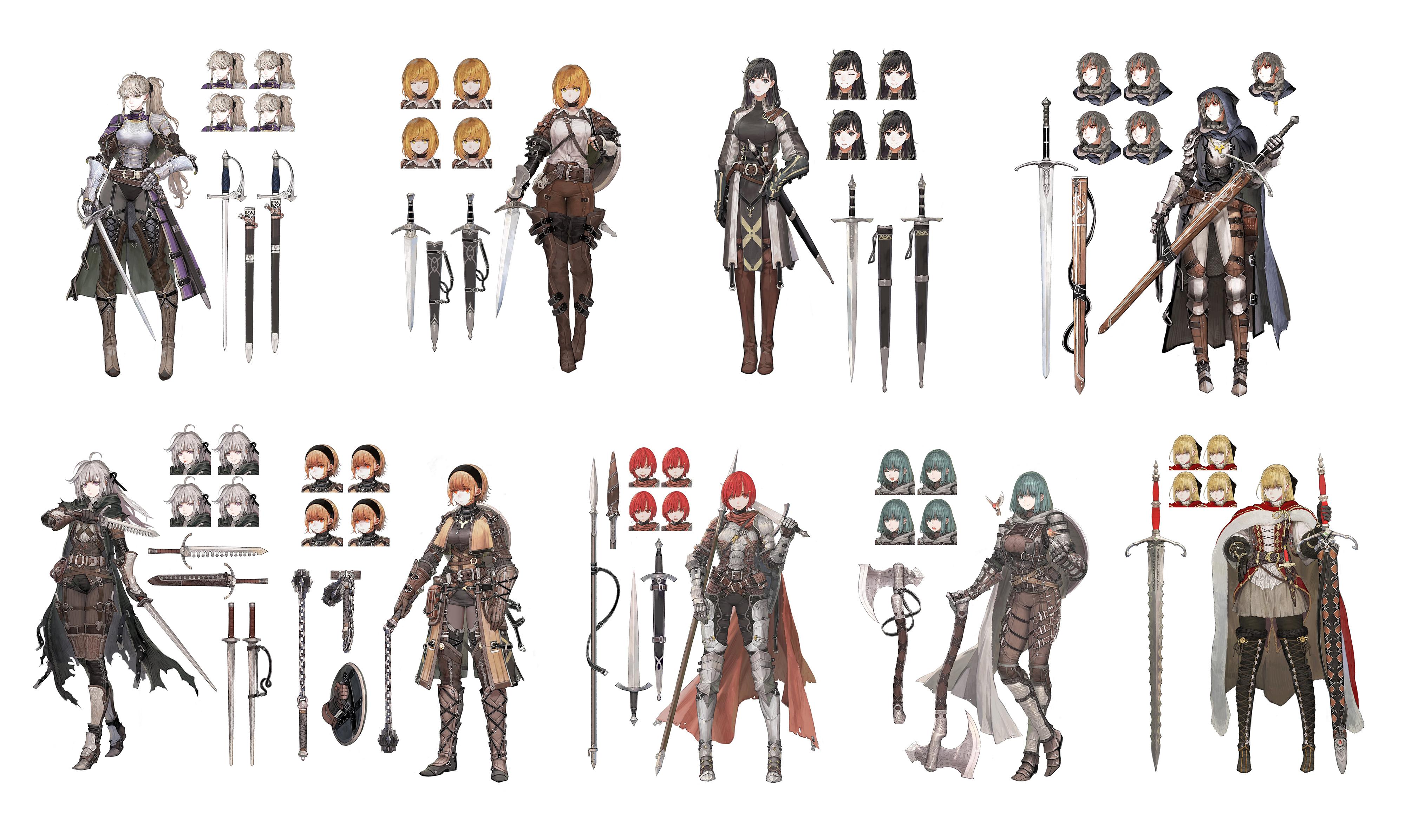 sword breaker, shortsword, zweihander, flamberge, longsword
