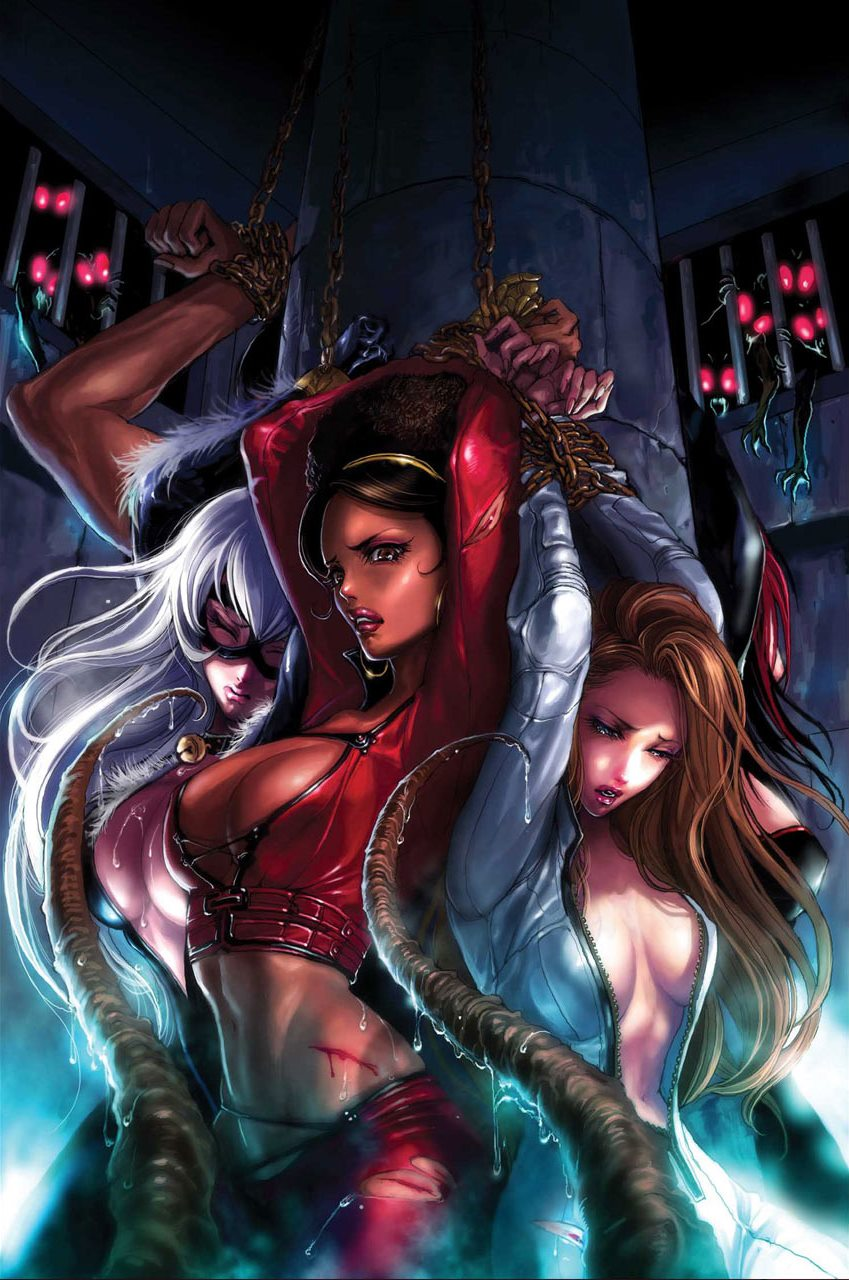 black cat, felicia hardy, colleen wing, victoria hand, and misty knight (marvel) drawn by sana ...