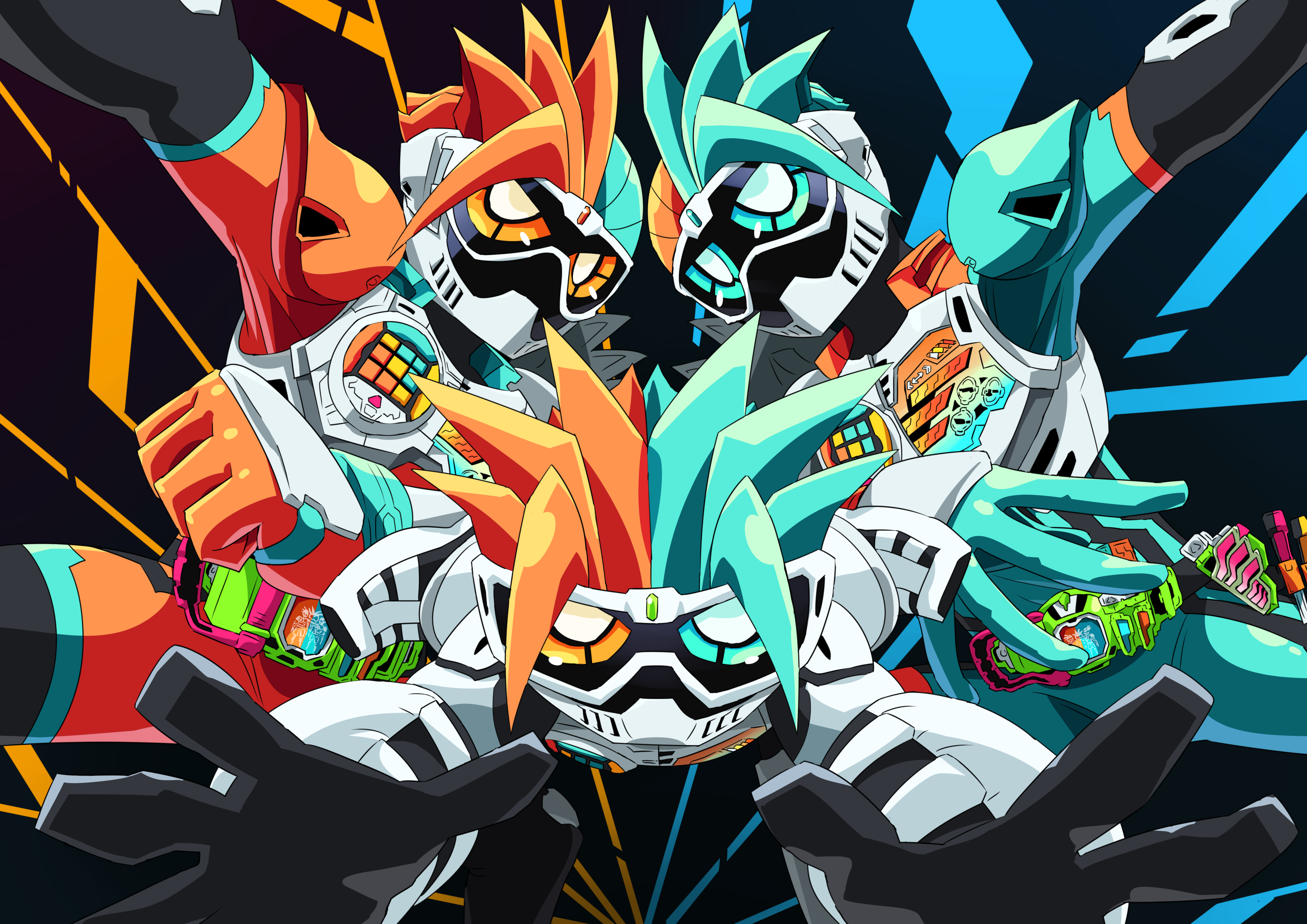 Kamen Rider Ex Aid Kamen Rider And 1 More Drawn By Otokamu Danbooru