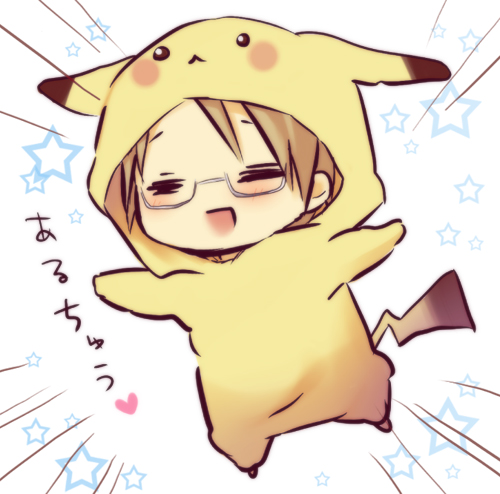 america and pikachu (axis powers hetalia and pokemon) drawn by hinazaki