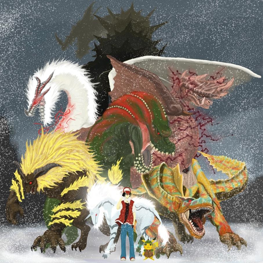 Pikachu Red Deviljho Tigrex Kirin And 6 More Pokemon And 2